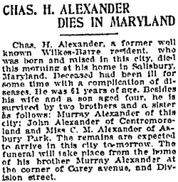 Charles H Alexander