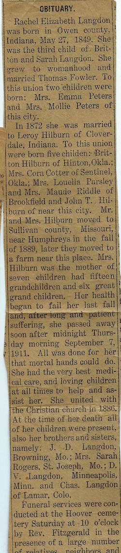 Rachel Elizabeth <i>Langdon</i> Hilburn