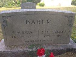 Adeline Addie <i>Aldridge</i> Baber