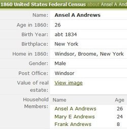 Pvt Ansel A. Andrews