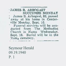 James Buchannan Arbogast