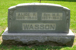 Mrs Florence Alice <i>Floyd</i> Wasson