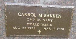 Carrol Maurice Bakken