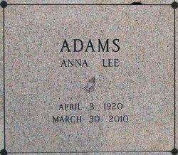 Anna Lee <i>Gant</i> Adams