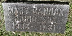 Mary Cannon Nicholson