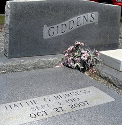 Hattie <i>Giddens</i> Burgess