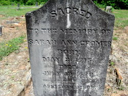 Sarah Ann <i>Atkins</i> Cromer