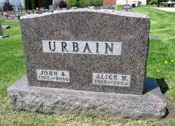 Alice W <i>McCarthy</i> Urbain