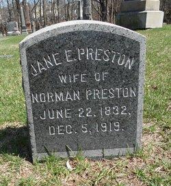 Jane E <i>Smith</i> Preston