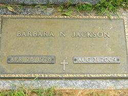 Barbara N <i>Byers</i> Jackson