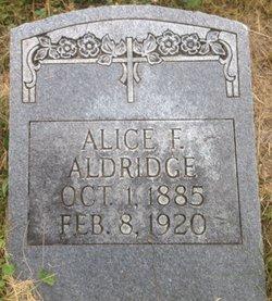 Alice F. <i>Richardson</i> Aldridge