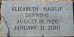Margaret Elizabeth <i>Haislip</i> Denning