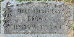 Signe Frederica Brown