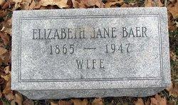 Elizabeth Jane <i>Sembower</i> Baer
