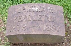 Bertha M. Pendleton