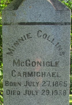Minnie Collins <i>McGonigle</i> Carmichael