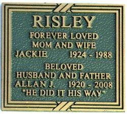 Jacquelyn Beth Jackie <i>Shupe</i> Risley