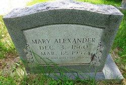 Mary <i>Walker</i> Alexander