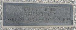 Etta Grace <i>Winder</i> Brinkmeyer