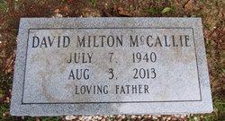 David M McCallie