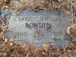 Carrie <i>Jemison</i> Bowden