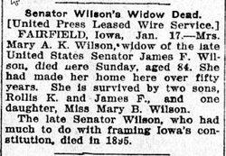 Mary A.K. <i>Jewett</i> Wilson