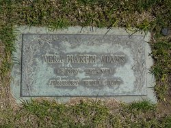 Vera <i>Martin</i> Adams
