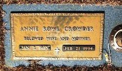 Annie <i>Rowe</i> Crowder