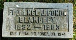 Florence J <i>Lewis</i> Blakeley Fonda