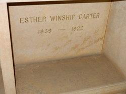 Esther <i>Winship</i> Carter