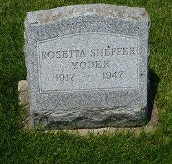 Rosetta <i>Sheffer</i> Yoder