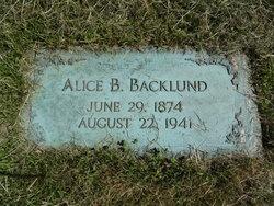 Alice B. <i>Stevenson</i> Backlund