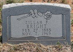 Zillah Frances <i>Gentry</i> Bright