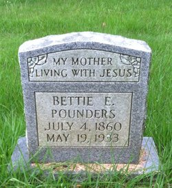 Bettie Elizabeth Lizzie <i>Holt</i> Pounders
