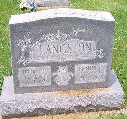 Bertha E. <i>McHenry</i> Langston