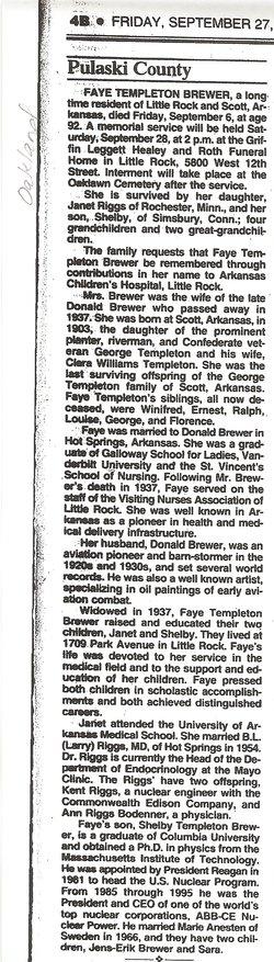 Fay <i>Templeton</i> Brewer