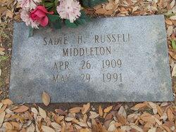 Sadie <i>Hickman</i> Russell Middleton