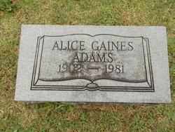 Alice <i>Gaines</i> Adams