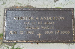 Lieut Chester Albert Chet Anderson