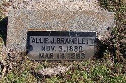 Allie J <i>Waller</i> Bramblett