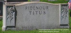 Elsie <i>Titus</i> Ridenour