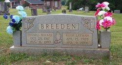 Ruth Layman <i>Layman</i> Breeden