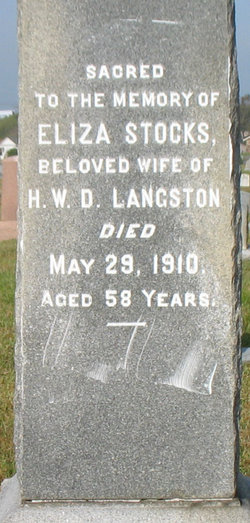 Eliza Stocks <i>Wood</i> Benton Langston