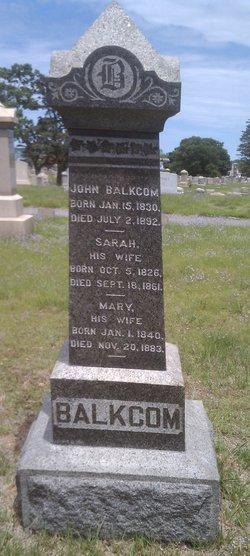 Sarah <i>Clarke</i> Balkcom