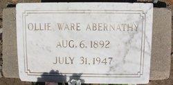 Ollie Ware Abernathy