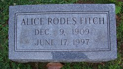 Alice <i>Rodes</i> Fitch