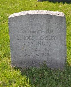 Lenore Hemsley Alexander