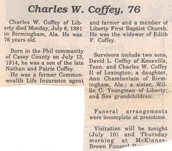 Charles W Coffey
