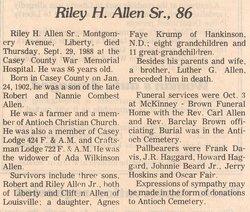 Riley Hobert Allen, Sr