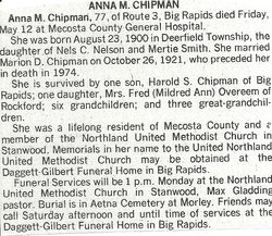 Anna M <i>Nelson</i> Chipman